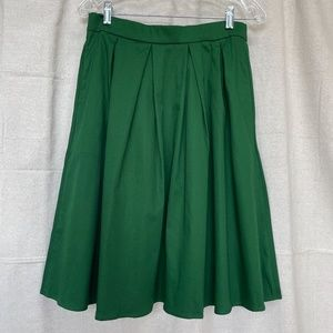 Tandisk Green Cotton Pocketed Full Skirt - NWT